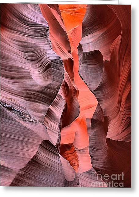 Smooth Sandstone Greeting Cards - Antelope Orange Ribbons Greeting Card by Adam Jewell