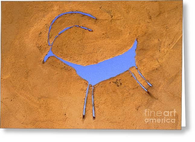 Mesa Verde Greeting Cards - Antelope Petroglyph Greeting Card by Jerry McElroy