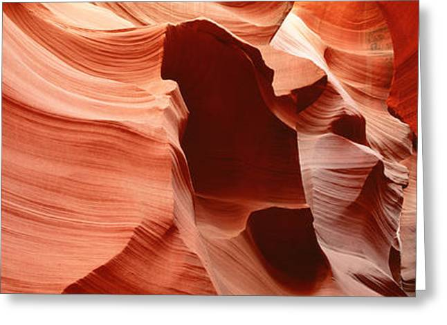 Antelope Slot Canyon, Az Greeting Card by Panoramic Images
