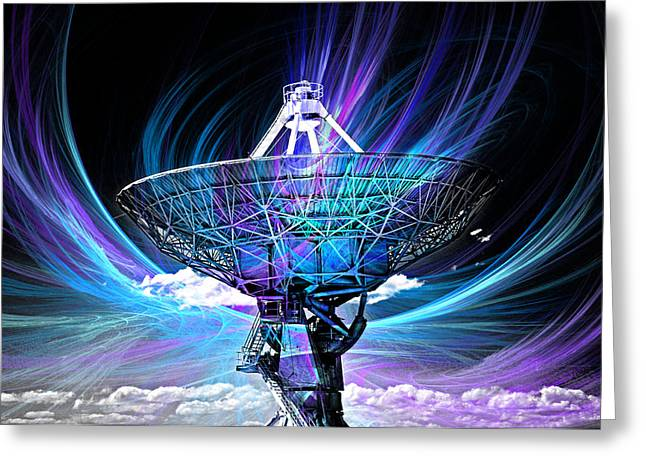 Antenna Greeting Card by David Cowan