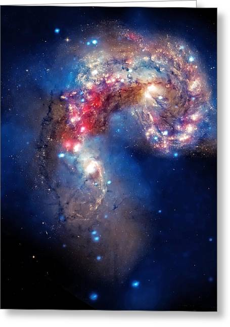 Colliding Greeting Cards - Antennae Galaxies Collide 2 Greeting Card by The  Vault - Jennifer Rondinelli Reilly