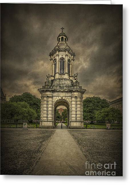 Campanile Greeting Cards - Anthem Of The Trinity Greeting Card by Evelina Kremsdorf