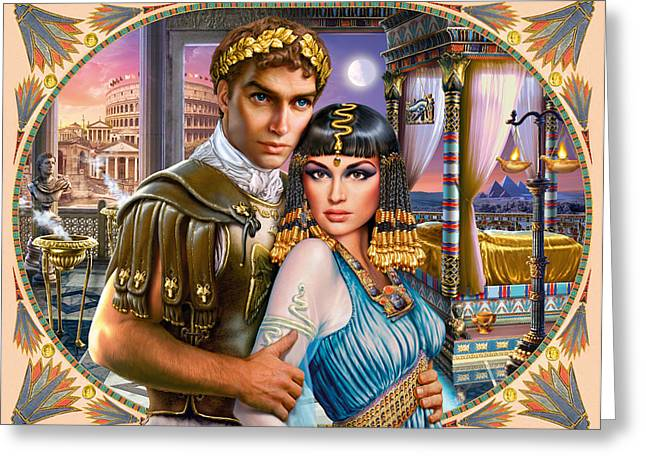 Pharaoh Photographs Greeting Cards - Anthony and Cleopatra Greeting Card by Andrew Farley