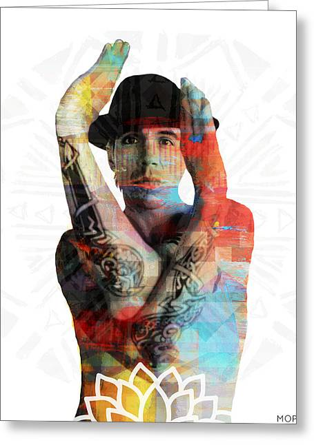 Rhcp Greeting Cards - Anthony Kiedis Greeting Card by Mops
