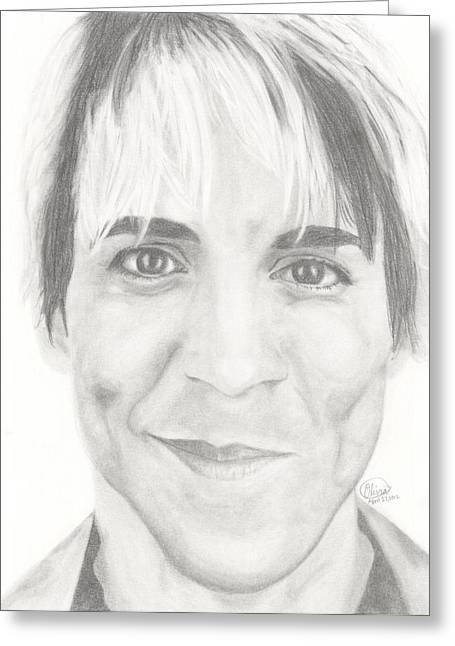 Red Hot Chili Peppers Greeting Cards - Anthony Kiedis Greeting Card by Olivia Schiermeyer