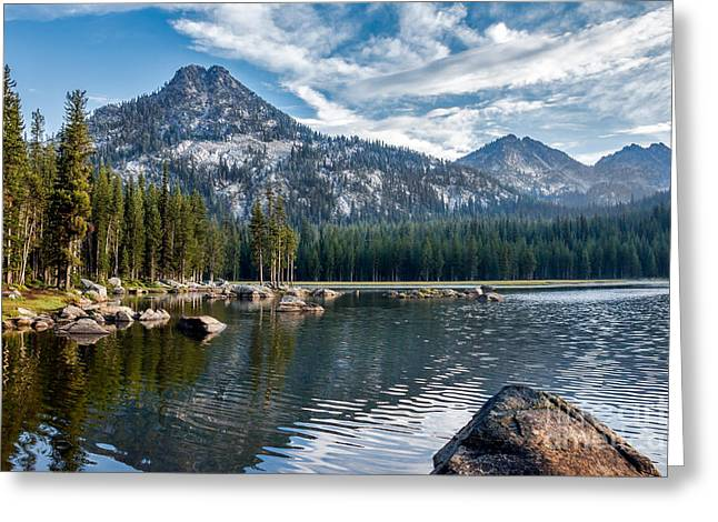 Haybale Greeting Cards - Anthony Lake Greeting Card by Robert Bales