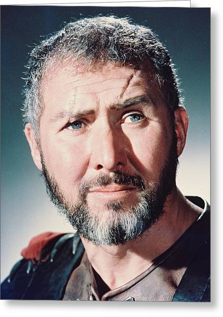 Roman Empire Greeting Cards - Anthony Quayle in The Fall of the Roman Empire Greeting Card by Silver Screen
