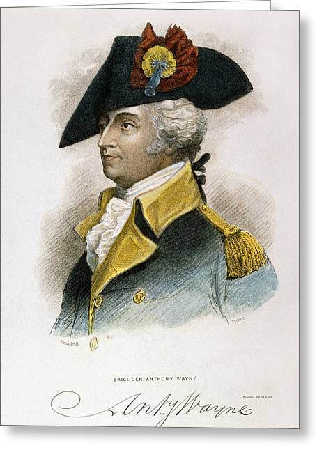 Lapel Greeting Cards - Anthony Wayne (1745-1796) Greeting Card by Granger