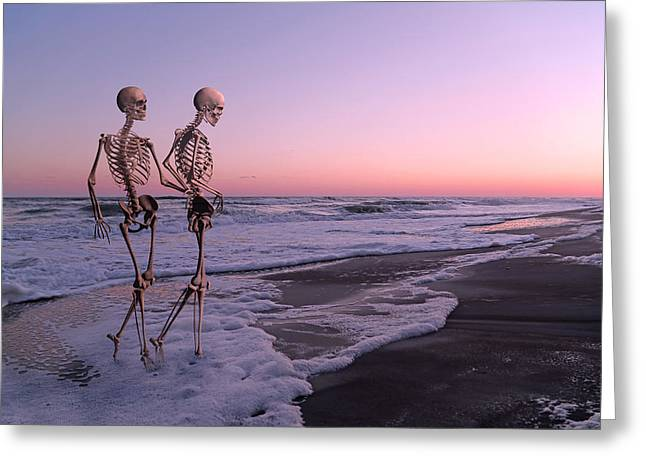 Ghost Story Greeting Cards - Anthropology Shared Similarities  Greeting Card by Betsy C  Knapp