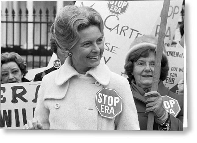 Anti Era Phyllis Schafly Greeting Card by Warren Leffler