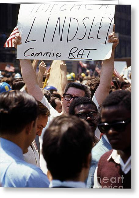 Conservative Greeting Cards - Anti Lindsay Demonstration   Greeting Card by Erik Falkensteen
