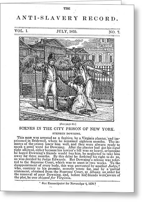 Anti-slavery, 1835 Greeting Card by Granger