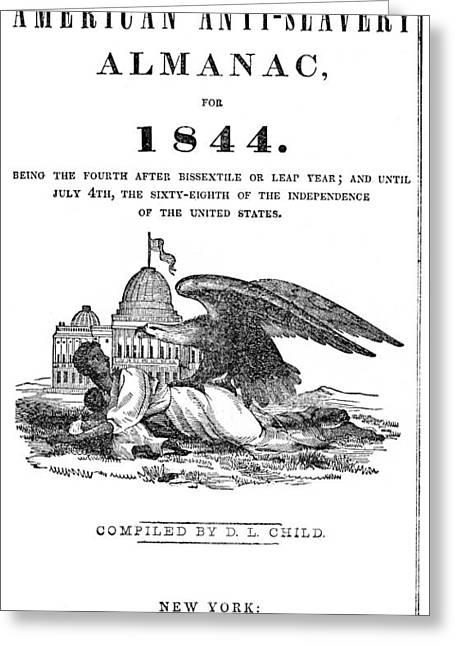 Anti-slavery Almanac, 1844 Greeting Card by Granger
