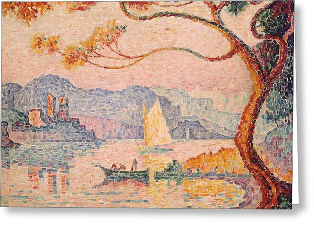 Antibes Greeting Cards - Antibes  Petit Port de Bacon Greeting Card by Paul Signac