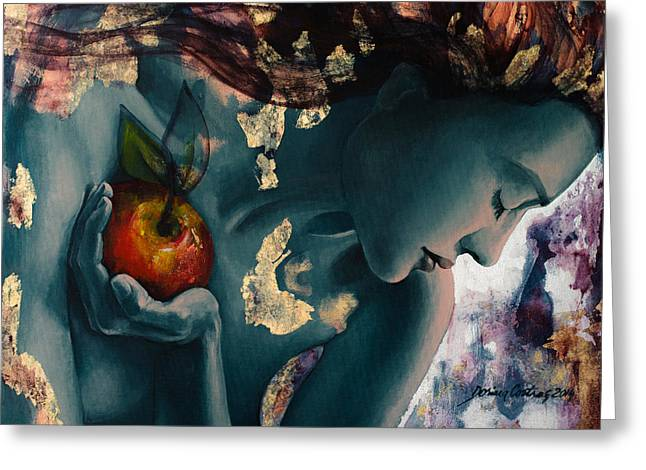 Live Art Greeting Cards - Anticipation Greeting Card by Dorina  Costras