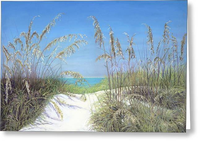Sand Dunes Pastels Greeting Cards - Anticipation Greeting Card by Lorraine Potocki