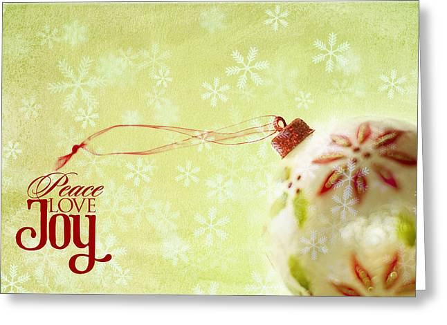 Peace Greeting Cards - Anticipation Ornament Greeting Card by Rebecca Cozart