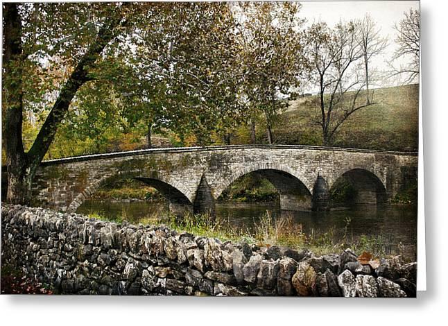 Kathleen Hill Greeting Cards - Antietam Bridge in Maryland Greeting Card by Kathleen Scanlan