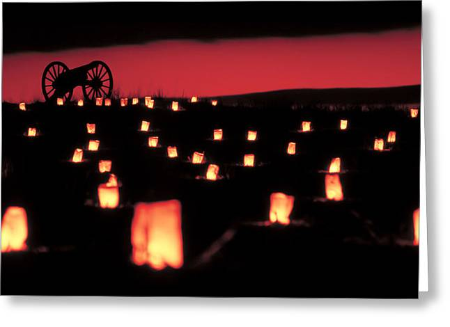 Luminaries Greeting Cards - Antietam National Battlefield  Greeting Card by Geoffrey Baker