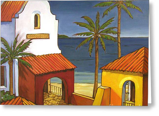 Villa Paintings Greeting Cards - Antigua I Greeting Card by Paul Brent