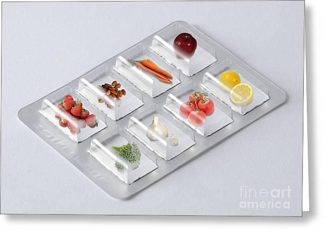 Broccoli Greeting Cards - Antioxidant Rich Foods Greeting Card by Gwen Shockey