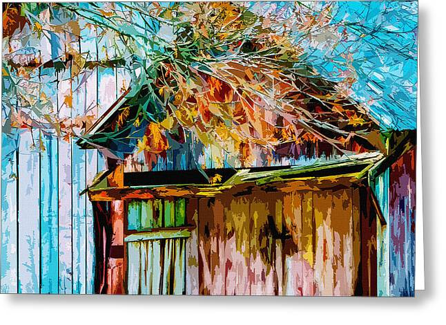 Outbuildings Digital Art Greeting Cards - Antiquated Angles 2 Greeting Card by Brian Stevens