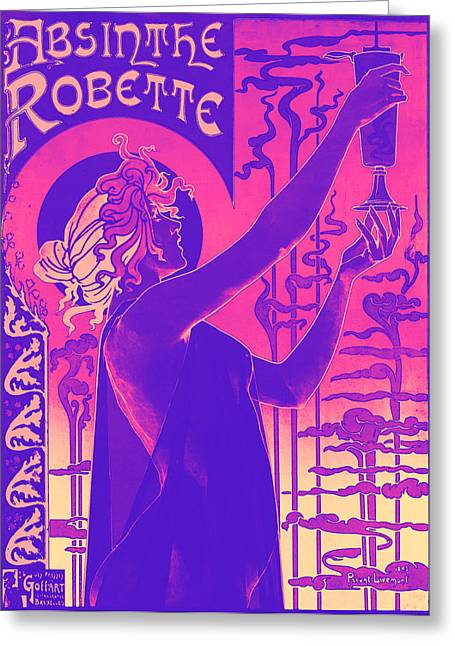Absinthe Greeting Cards - Antique Absinthe Robette Ad 5 Greeting Card by The  Vault - Jennifer Rondinelli Reilly