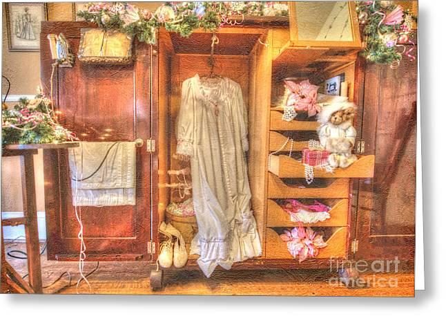 Liane Wright Greeting Cards - Antique Armoire Greeting Card by Liane Wright
