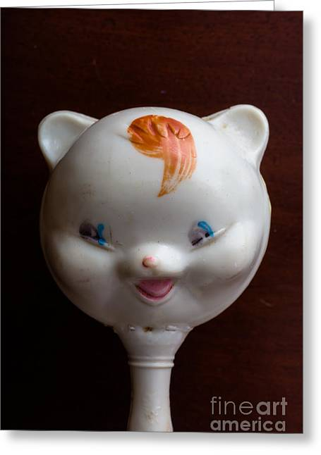 Head Covered Greeting Cards - Antique Baby Rattle Greeting Card by Edward Fielding