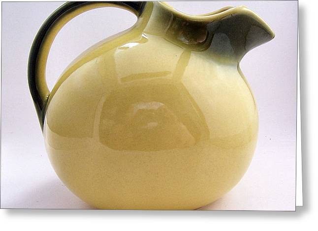 Pottery Pitcher Greeting Cards - Antique Ball Pitcher  Greeting Card by Joy Reese