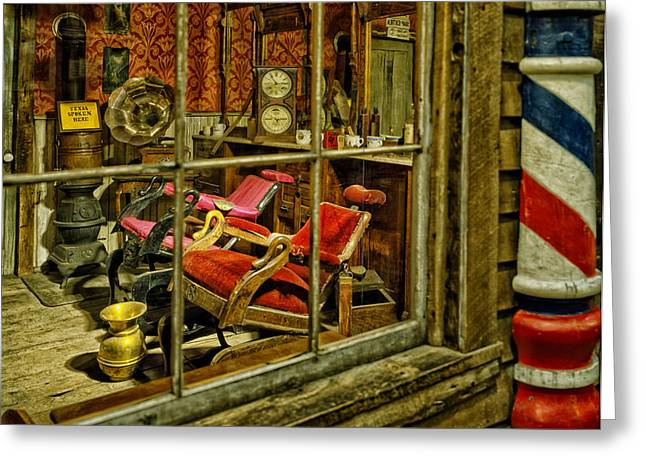 Barbershops Greeting Cards - Antique Barbershop  Greeting Card by Mountain Dreams