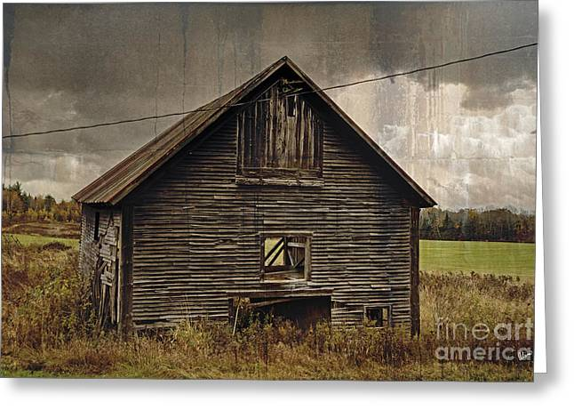 Old Maine Barns Greeting Cards - Antique Barn Greeting Card by Alana Ranney