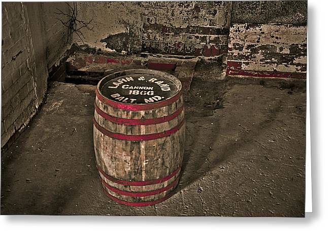 Red Wine Prints Greeting Cards - Antique Barrel  Greeting Card by Atit Shah