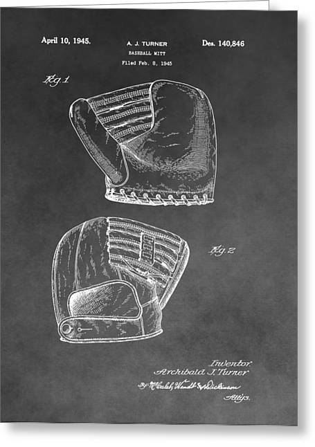 Pitcher Drawings Greeting Cards - Antique Baseball Mitt Greeting Card by Dan Sproul