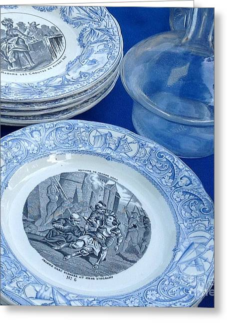 Valuable Photographs Greeting Cards - Antique Bleu Greeting Card by France  Art