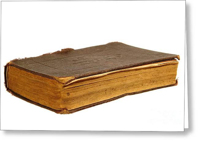Antique Book Greeting Card by Olivier Le Queinec