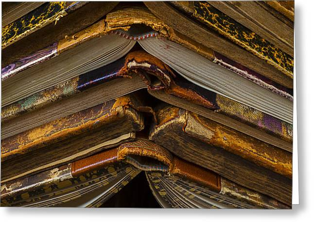 Antique Books Greeting Card by Garry Gay