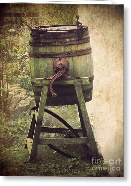 Historical Pictures Greeting Cards - Antique Butter Churn Greeting Card by Linsey Williams
