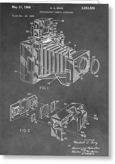Sensors Greeting Cards - Antique Camera Patent Greeting Card by Dan Sproul