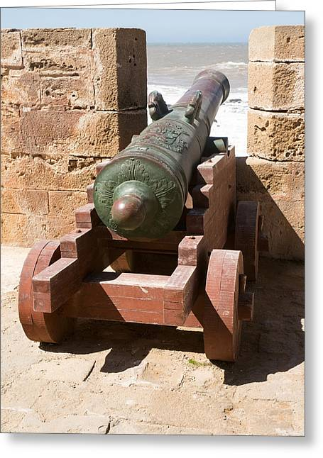 illery Photographs Greeting Cards - Antique Cannon In The North Bastion Greeting Card by Panoramic Images