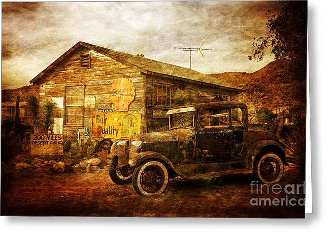Hackberry Greeting Cards - Antique Car  Hackberry Route 66  Greeting Card by Heinz G Mielke