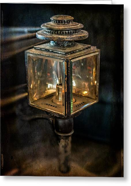 Antique Carriage Lamp Greeting Card by Paul Freidlund