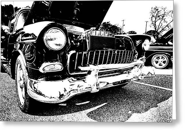 Vintage Greeting Cards - Antique Chevy Car at Car Show Greeting Card by Danny Hooks