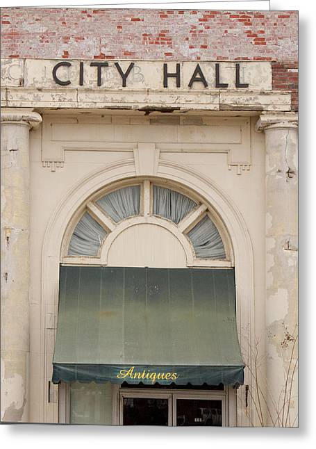 Antique City Greeting Cards - Antique City Hall Greeting Card by Douglas Barnett