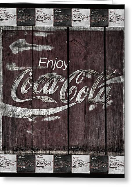 Weathered Coca Cola Sign Greeting Cards - Antique Coca Cola Signs Greeting Card by John Stephens