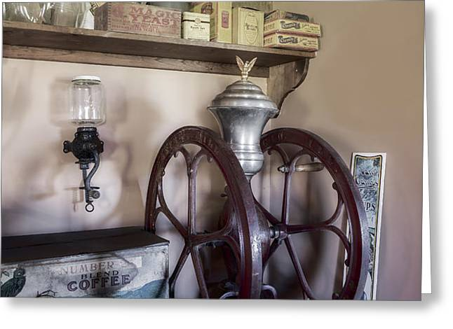 Antique Coffee Mill Greeting Card by Susan Candelario