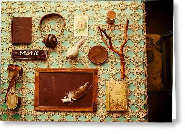 Indoor Still Life Greeting Cards - Antique Display Greeting Card by Mountain Dreams