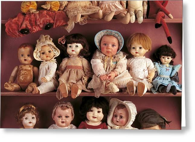 Antique Dolls Greeting Card by Anne Geddes