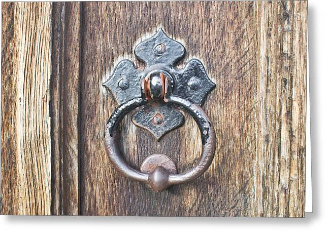 Knob Greeting Cards - Antique door handle Greeting Card by Tom Gowanlock