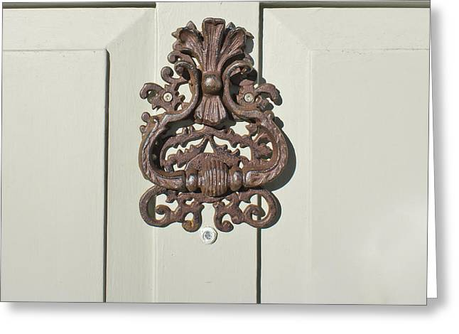 Knob Greeting Cards - Antique door knocker Greeting Card by Tom Gowanlock